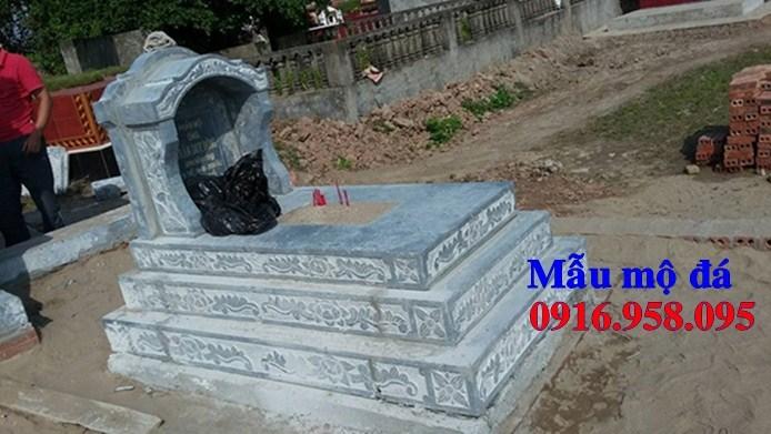 61 Mẫu mộ tam cấp bằng đá tự nhiên nguyên khối đẹp tại Tiền Giang