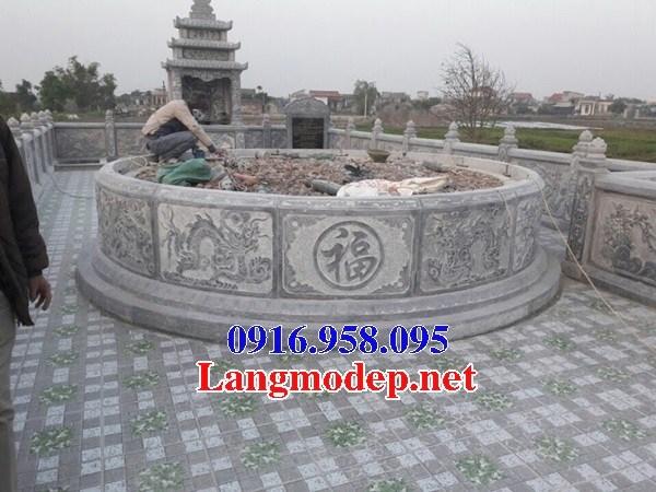 61 Mẫu mộ tròn bằng đá điêu khắc tinh xảo đẹp tại Tiền Giang