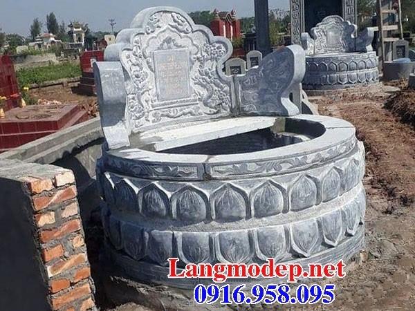 61 Mẫu mộ tròn cất để tro cốt hỏa táng bằng đá đẹp tại Tiền Giang