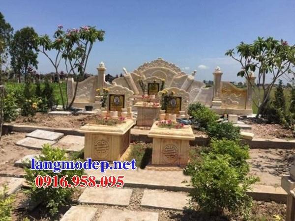61 Mẫu miếu thờ chung khu lăng mộ gia đình dòng họ bằng đá vàng cao cấp đẹp tại Tiền Giang