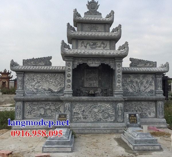 72 Mẫu cây hương thờ chung khu lăng mộ gia đình dòng họ bằng đá chạm khắc hoa văn đẹp bán tại Trà Vinh