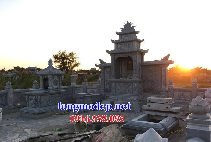 72 Mẫu khu lăng mộ nghĩa trang gia đình dòng họ bằng đá đẹp bán tại Trà Vinh