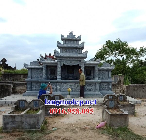 72 Mẫu khu lăng mộ nghĩa trang gia đình dòng họ bằng đá điêu khắc tinh xảo đẹp bán tại Trà Vinh
