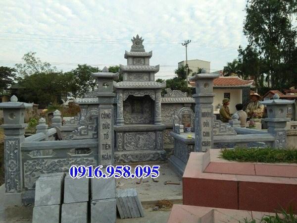 72 Mẫu khu lăng mộ nghĩa trang gia đình dòng họ bằng đá tự nhiên nguyên khối đẹp bán tại Trà Vinh