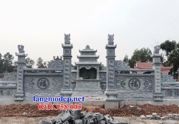 72 Mẫu khu lăng mộ nghĩa trang gia đình dòng họ bằng đá thiết kế đẹp bán tại Trà Vinh
