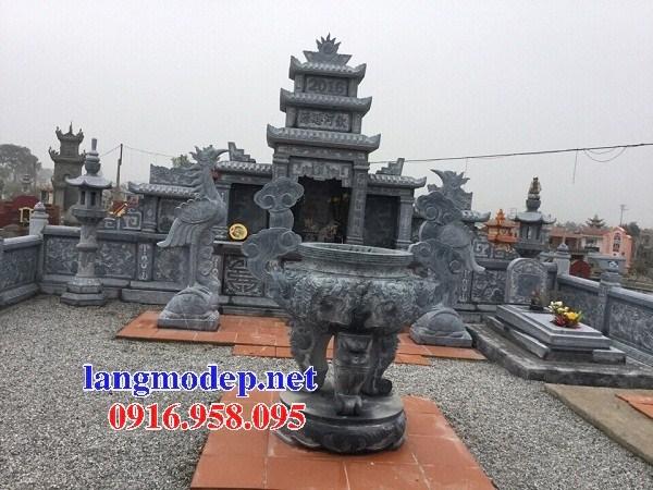 72 Mẫu lăng thờ chung khu lăng mộ gia đình dòng họ bằng đá thiết kế hiện đại đẹp bán tại Trà Vinh