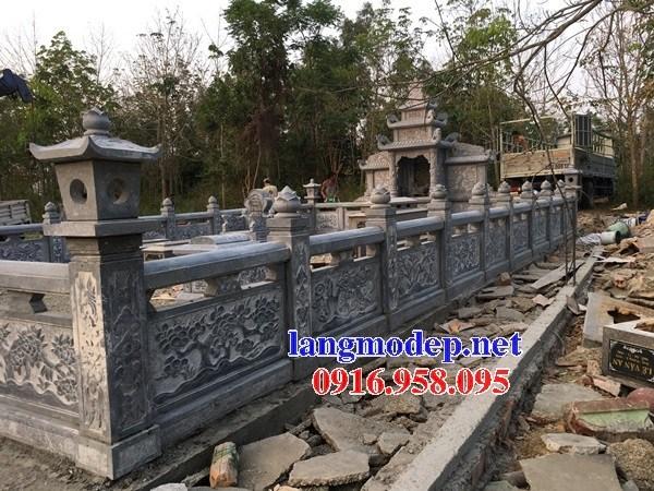 72 Mẫu lan can hàng rào khu lăng mộ nghĩa trang gia đình dòng họ bằng đá chạm khắc hoa văn đẹp bán tại Trà Vinh