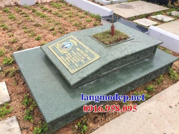 72 Mẫu mộ đá hoa cương xanh rêu đẹp bán tại Trà Vinh
