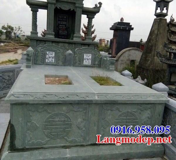 72 Mẫu mộ đá xanh rêu nguyên khối đẹp bán tại Trà Vinh