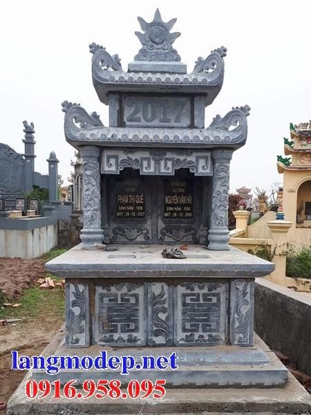72 Mẫu mộ đôi gia đình bằng đá đẹp bán tại Trà Vinh