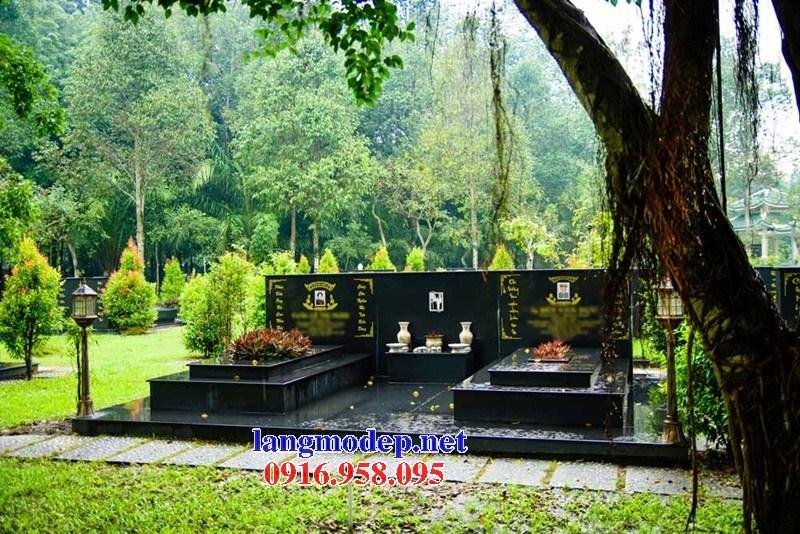 72 Mẫu mộ đôi gia đình bằng đá kim sa Ấn Độ cao cấp đẹp bán tại Trà Vinh