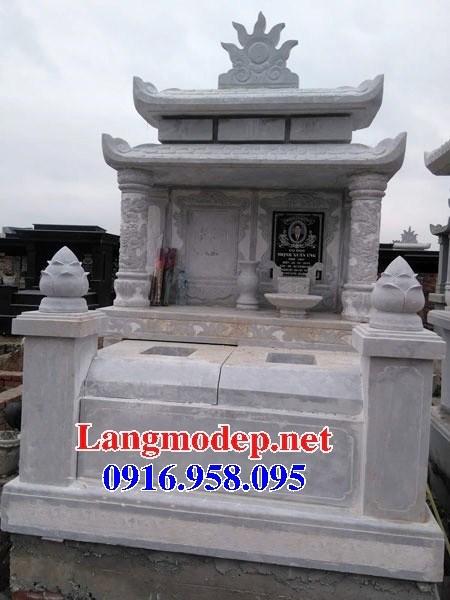 72 Mẫu mộ đôi gia đình bằng đá trắng cao cấp đẹp bán tại Trà Vinh