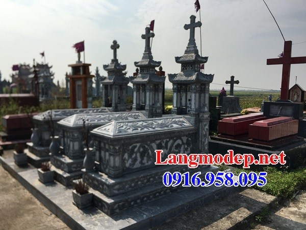 72 Mẫu mộ đạo thiên chúa công giáo bằng đá chạm khắc hoa văn đẹp bán tại Trà Vinh