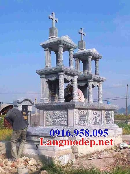 72 Mẫu mộ đạo thiên chúa công giáo bằng đá thiết kế hiện đại đẹp bán tại Trà Vinh