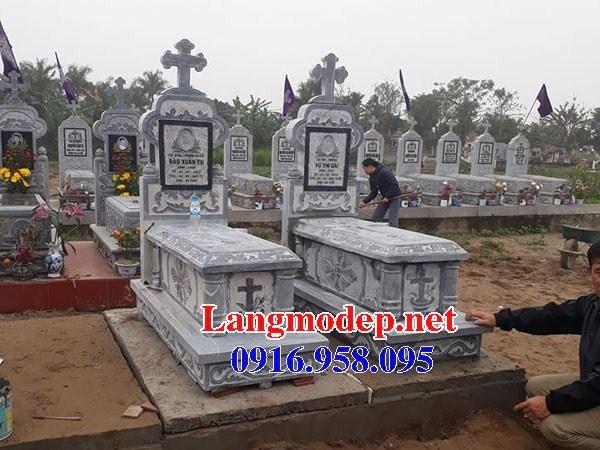 72 Mẫu mộ đạo thiên chúa công giáo bằng đá xanh Thanh Hóa đẹp bán tại Trà Vinh