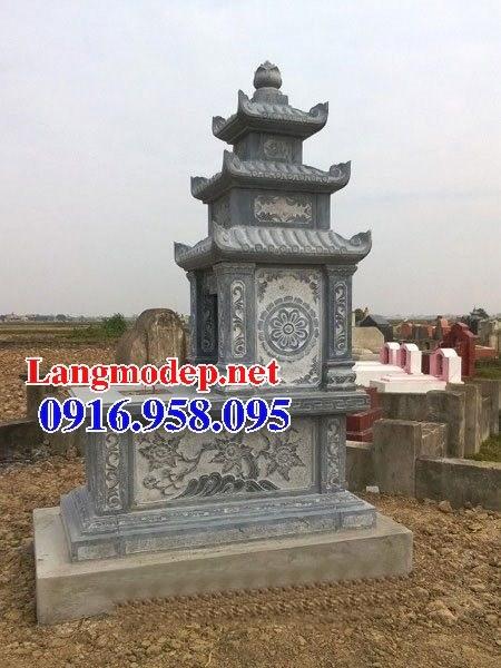 72 Mẫu mộ ba mái bằng đá chạm khắc hoa văn đẹp bán tại Trà Vinh