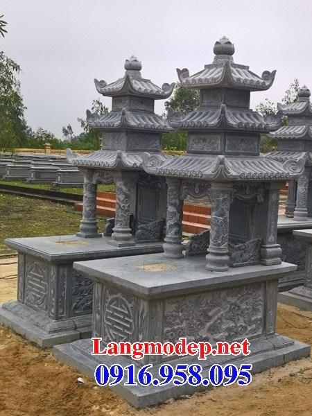 72 Mẫu mộ ba mái bằng đá tự nhiên nguyên khối đẹp bán tại Trà Vinh