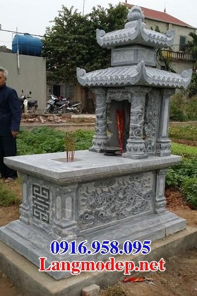 72 Mẫu mộ hai mái bằng đá đẹp bán tại Trà Vinh