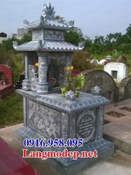 72 Mẫu mộ hai mái bằng đá chạm khắc hoa văn đẹp bán tại Trà Vinh