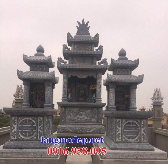 72 Mẫu mộ hai mái bằng đá tự nhiên nguyên khối đẹp bán tại Trà Vinh