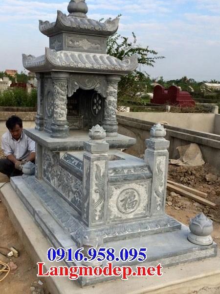 72 Mẫu mộ hai mái bằng đá thiết kế đẹp bán tại Trà Vinh