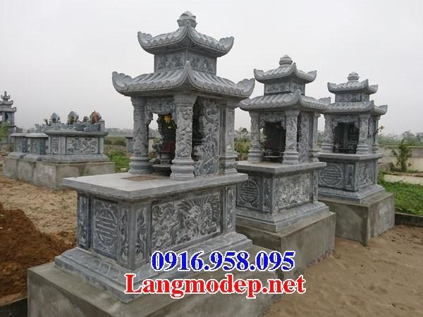 72 Mẫu mộ hai mái bằng đá thiết kế hiện đại đẹp bán tại Trà Vinh