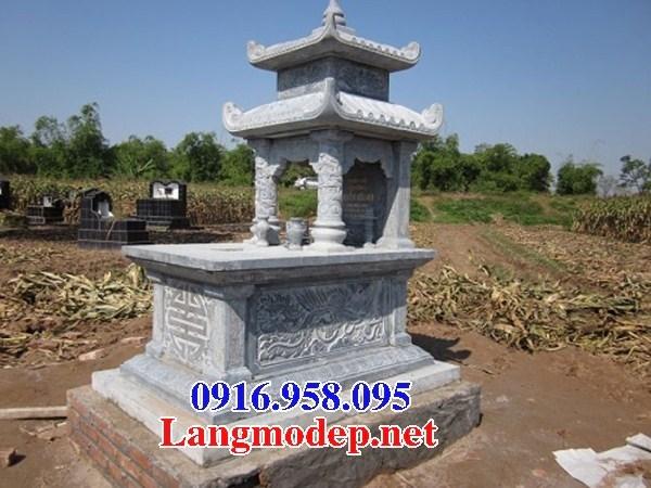 72 Mẫu mộ hai mái cất để tro cốt hỏa táng bằng đá đẹp bán tại Trà Vinh