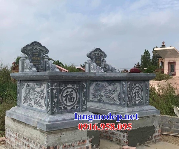 72 Mẫu mộ không mái bằng đá điêu khắc long phụng đẹp bán tại Trà Vinh