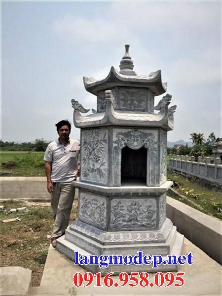 72 Mẫu mộ lục lăng bát giác bằng đá chạm khắc hoa văn đẹp bán tại Trà Vinh