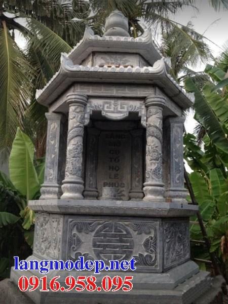 72 Mẫu mộ lục lăng bát giác bằng đá mỹ nghệ Ninh Bình đẹp bán tại Trà Vinh