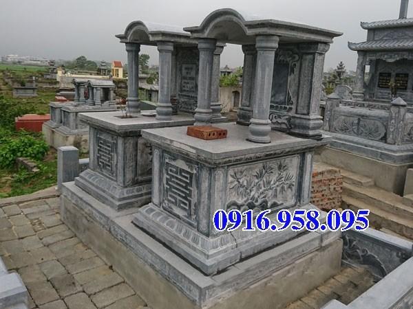72 Mẫu mộ một mái bằng đá chạm khắc hoa văn đẹp bán tại Trà Vinh