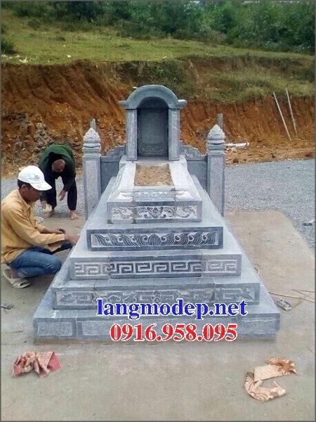 72 Mẫu mộ một mái bằng đá tự nhiên nguyên khối đẹp bán tại Trà Vinh