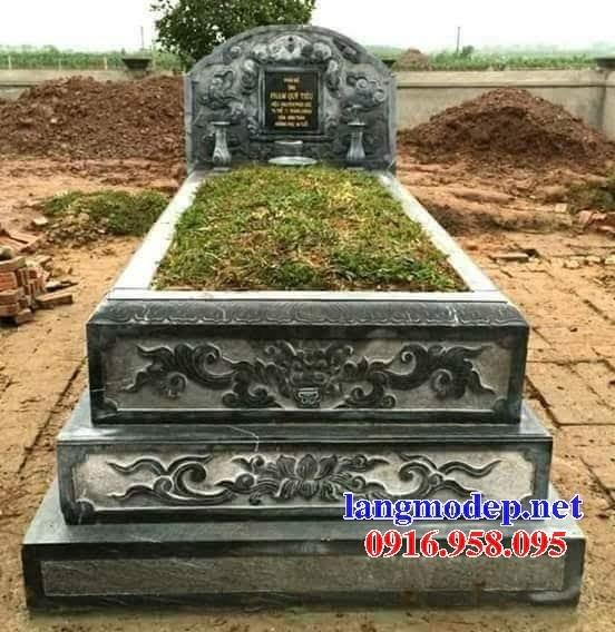 72 Mẫu mộ tam cấp bằng đá xanh rêu đẹp bán tại Trà Vinh