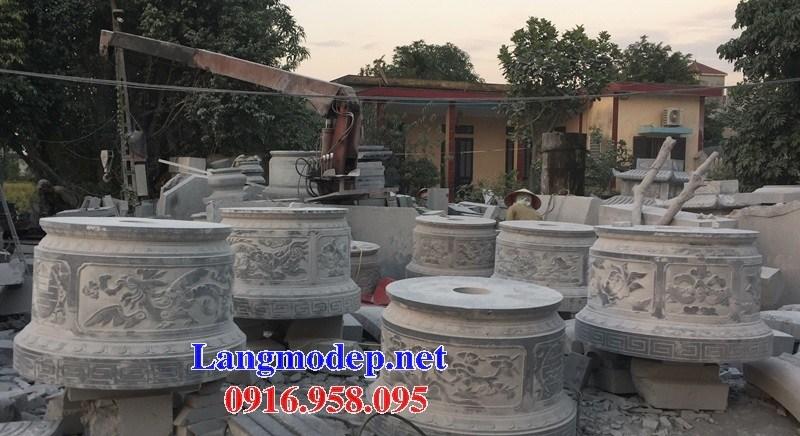 72 Mẫu mộ tròn bằng đá chạm khắc hoa văn đẹp bán tại Trà Vinh
