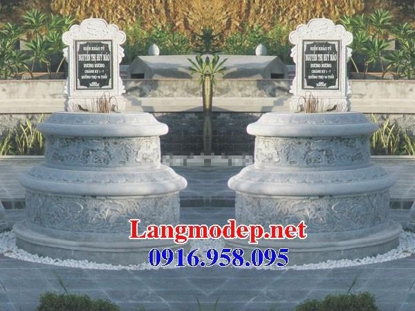 72 Mẫu mộ tròn bằng đá tự nhiên nguyên khối đẹp bán tại Trà Vinh