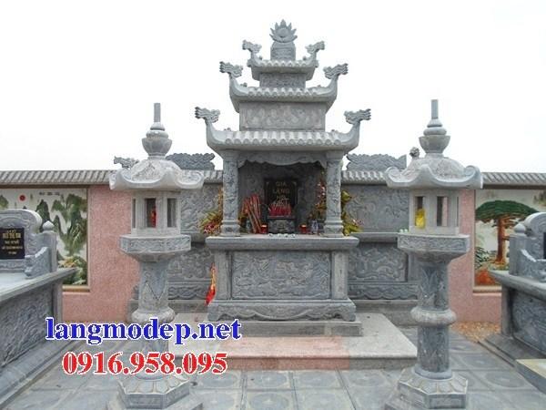 94 Mẫu cây hương thờ chung khu lăng mộ gia đình dòng họ bằng đá thiết kế đẹp bán tại Cao Bằng