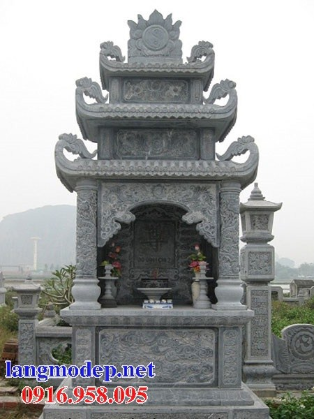 94 Mẫu củng kỳ đài thờ chung khu lăng mộ gia đình dòng họ bằng đá đẹp bán tại Cao Bằng