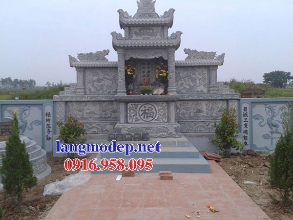 94 Mẫu củng kỳ đài thờ chung khu lăng mộ gia đình dòng họ bằng đá xanh Thanh Hóa đẹp bán tại Cao Bằng