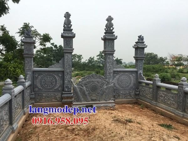 94 Mẫu cuốn thư bức bình phong khu lăng mộ nghĩa trang gia đình dòng họ bằng đá mỹ nghệ Ninh Bình đẹp bán tại Cao Bằng