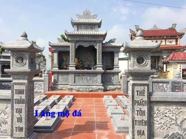 94 Mẫu khu lăng mộ nghĩa trang gia đình dòng họ bằng đá điêu khắc tinh xảo đẹp bán tại Cao Bằng