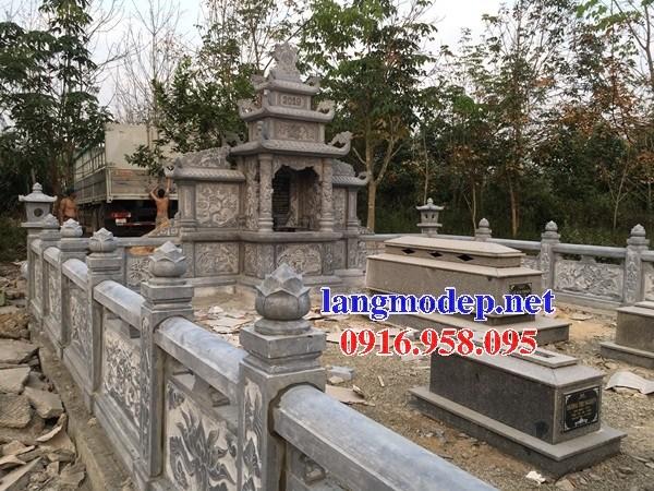 94 Mẫu khu lăng mộ nghĩa trang gia đình dòng họ bằng đá tự nhiên nguyên khối đẹp bán tại Cao Bằng