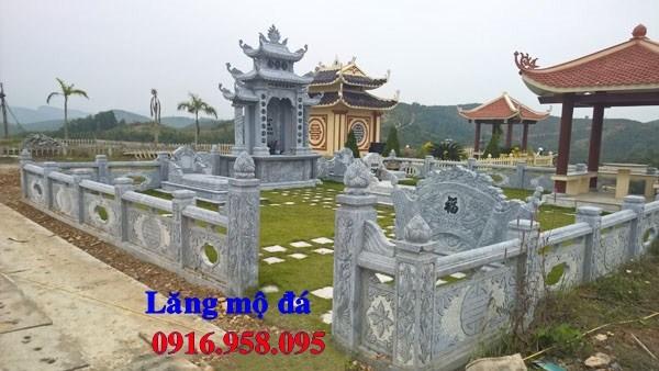 94 Mẫu khu lăng mộ nghĩa trang gia đình dòng họ bằng đá xanh Thanh Hóa đẹp bán tại Cao Bằng