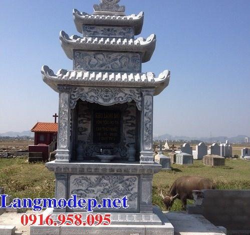 94 Mẫu lăng thờ chung khu lăng mộ gia đình dòng họ bằng đá tự nhiên nguyên khối đẹp bán tại Cao Bằng