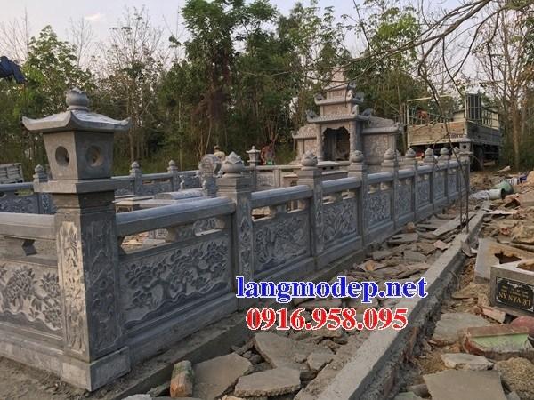 94 Mẫu lan can hàng rào khu lăng mộ nghĩa trang gia đình dòng họ bằng đá chạm khắc hoa văn đẹp bán tại Cao Bằng