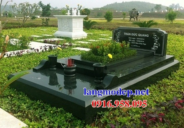 94 Mẫu mộ đá hoa cương xanh rêu đẹp bán tại Cao Bằng