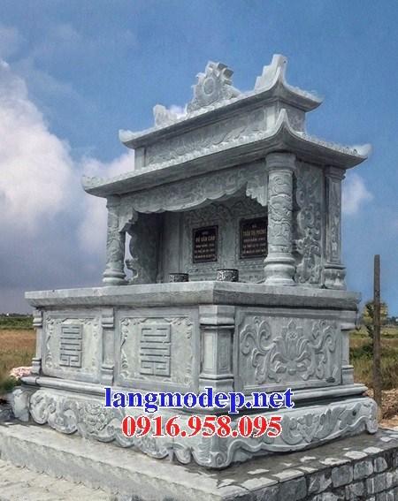 94 Mẫu mộ đá xanh rêu đẹp bán tại Cao Bằng