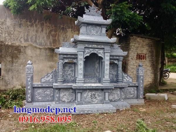 94 Mẫu miếu thờ chung khu lăng mộ gia đình dòng họ bằng đá đẹp bán tại Cao Bằng