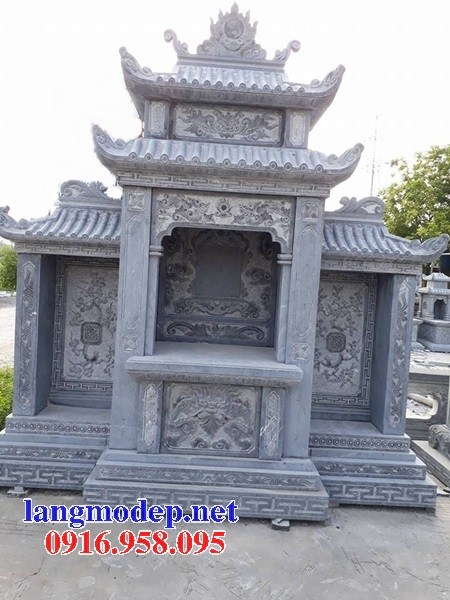 94 Mẫu miếu thờ chung khu lăng mộ gia đình dòng họ bằng đá mỹ nghệ Ninh Bình đẹp bán tại Cao Bằng