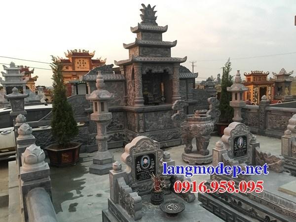 95 Mẫu khu lăng mộ nghĩa trang gia đình dòng họ bằng đá điêu khắc tinh xảo đẹp bán tại Sóc Trăng