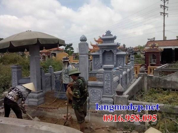 95 Mẫu khu lăng mộ nghĩa trang gia đình dòng họ bằng đá xanh Thanh Hóa đẹp bán tại Sóc Trăng